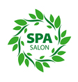 Round logo for Spa salon vector image vector image