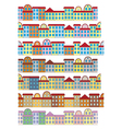 Rows of color buildings vector | Price: 1 Credit (USD $1)