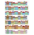 rows of color buildings vector image vector image
