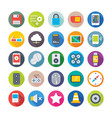 science and technology colored icons 6 vector image vector image
