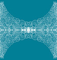 seamless aqua tile with lacy patterns hand vector image vector image