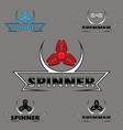 set logo hand spinner toys vector image vector image