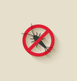 silverfish silhouette pest icon stop sign vector image vector image
