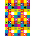 Squares and dots background vector image
