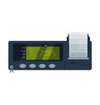 taximeter device calculating equipment for taxi vector image vector image
