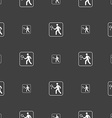 Tennis player sign Seamless pattern on a gray vector image vector image