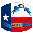texas state flag for texas day warped vector image vector image
