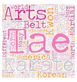 The Difference Between Karate and Tae Kwon Do text vector image vector image