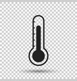 thermometer icon goal flat on isolated background vector image vector image