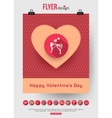 valentines day brochure template and set flat vector image vector image