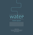 Water Poster Design vector image vector image