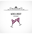 Wine and meat restaurant vector image vector image