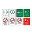 dog owner sign set prohibiting and resolving vector image