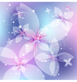 festive floral background abstract vector image