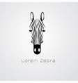 Zebra head on white background vector image