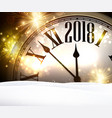 2018 year background with clock vector image vector image