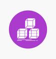arrange design stack 3d box white glyph icon