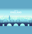big england bridge on the landscape background of vector image