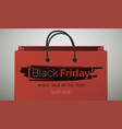 black friday red stylish banner template vector image