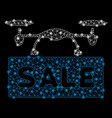 bright mesh network airdrone sale with flare spots vector image vector image