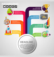 business concept with 7 options parts steps or vector image vector image
