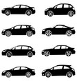 cars silhouette set vector image vector image