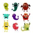 cartoon monsters set colorful toy cute monster vector image vector image