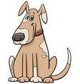 cartoon spotted dog animal character in collar vector image vector image