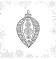 christmas coloring tree decoration bauble vector image vector image