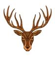 Christmas deer Ethnic patterns Xmas symbol vector image