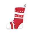 christmas stockings merry christmas and happy new vector image vector image