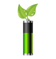 clean energy battery vector image vector image