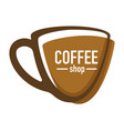 coffee shop or house isolated icon hot drink vector image vector image