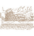colosseum hand draw vector image vector image