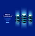 concept isometric information base web hosting vector image