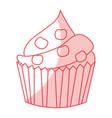 delicious cupcake celebration icon vector image vector image