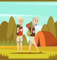 elderly people background vector image vector image