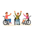 equal opportunity happy group of students vector image vector image
