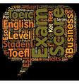 ESL Exams A Teacher s Guide text background vector image vector image