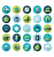 Farm Field flat icon with long shadow vector image vector image