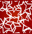 festive red background with close up stars vector image