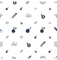 firework icons pattern seamless white background vector image vector image