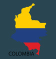 Flag-map of colombia