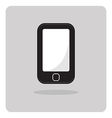 flat icon mobile phone vector image vector image