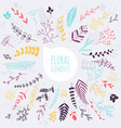 Floral elements Hand drawn design elements vector image vector image