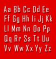 font 3d set letter vector image vector image