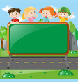frame design with kids on board vector image vector image