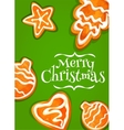Gingerbread cookie poster for Christmas design vector image vector image