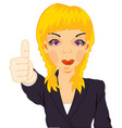 girl gesture by hand vector image vector image