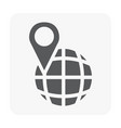 gps icon on white vector image